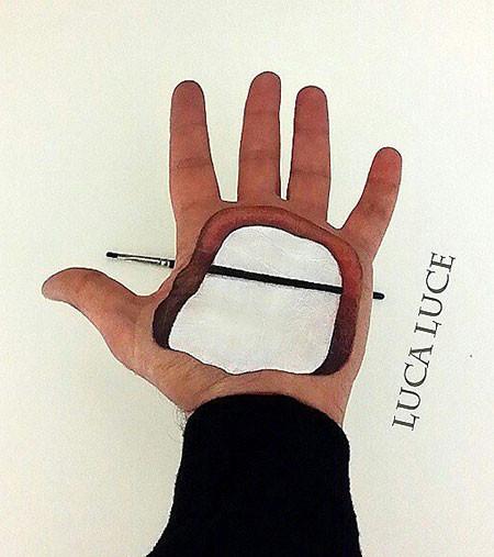左手がオシャカになっちゃた!3Dアートですごい事になってる左手の画像の数々!!の画像(16枚目)