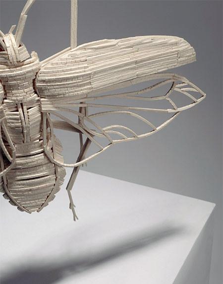 【画像】マッチ棒で作った昆虫のクオリティが凄い!!の画像(4枚目)