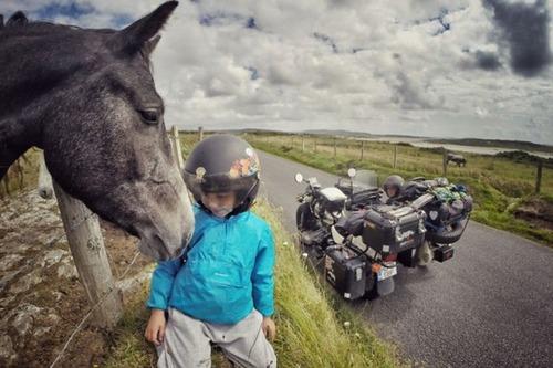 【画像】1台のバイクで家族3人が41カ国を4ヶ月で制覇!!の画像(13枚目)