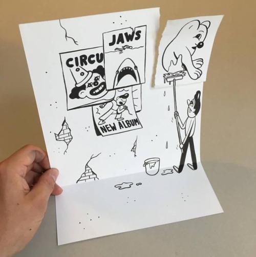 1枚の紙とペンで作った3Dアートの画像(10枚目)