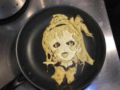 もはや芸術!!パンケーキの焼き加減でアニメのキャラクターを再現!!の画像(9枚目)