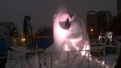 【画像】海外の雪祭りとか色々な雪像がやっぱ海外って感じで面白いwwwの画像(10枚目)