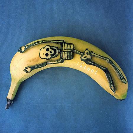 バナナのカービングアート12