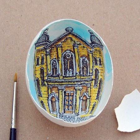 卵の中が別世界!卵の内側に絵を描くアートが面白い!!の画像(13枚目)