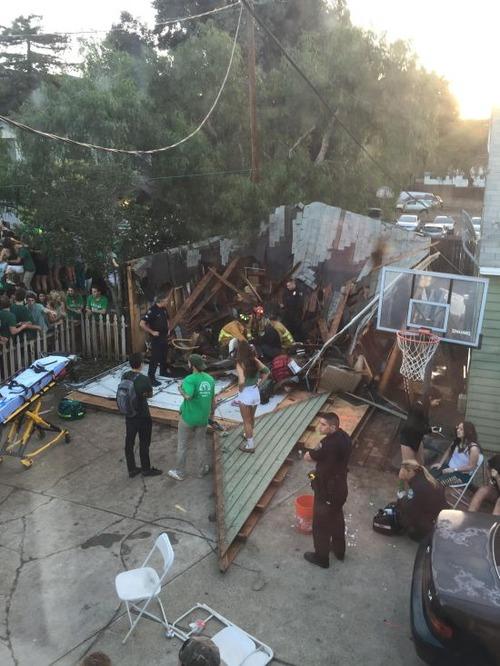 調子に乗りすぎた学生たちのパーティで家が崩壊してしまう。。の画像(3枚目)