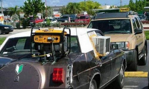 【画像】修理方法が驚異的に雑すぎて、凄いことになってる自動車の数々!!の画像(2枚目)