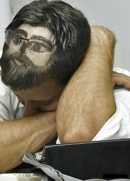居眠りヘアーの画像(1枚目)