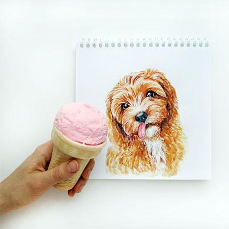 犬の絵が小道具1つで生きてるように見える!!の画像(11枚目)