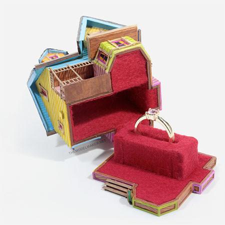 家の形の指輪のケースの画像(3枚目)