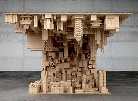 【画像】大きな街を再現したテーブルが凄い!!の画像(3枚目)