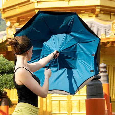 裏表が逆に折りたためる傘の画像(10枚目)