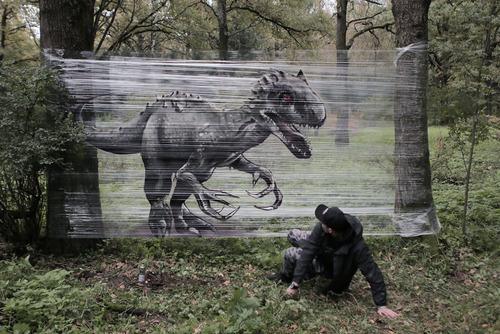 森の中の動物のペイント01