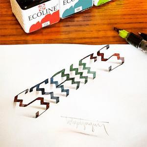 ノートにペンだけで描いた3Dの文字が凄い!!の画像(4枚目)