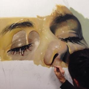 写真のように液体を描く!ちょっとエロい雰囲気の画像アートができるまで!の画像(1枚目)