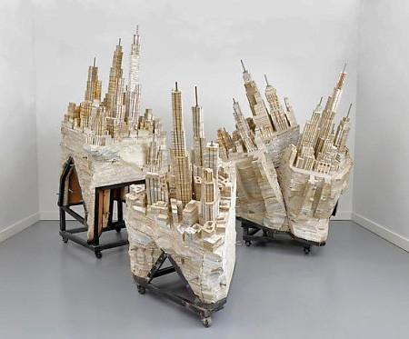 本で作られた大都市のジオラマの画像(9枚目)