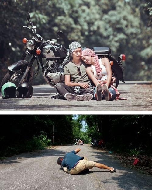 芸術的な写真と撮影風景のギャップの画像(31枚目)