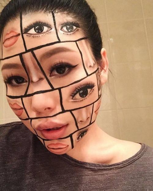 顔面が崩壊しているフェイスペイントの画像(3枚目)
