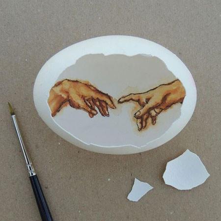 卵の中が別世界!卵の内側に絵を描くアートが面白い!!の画像(7枚目)