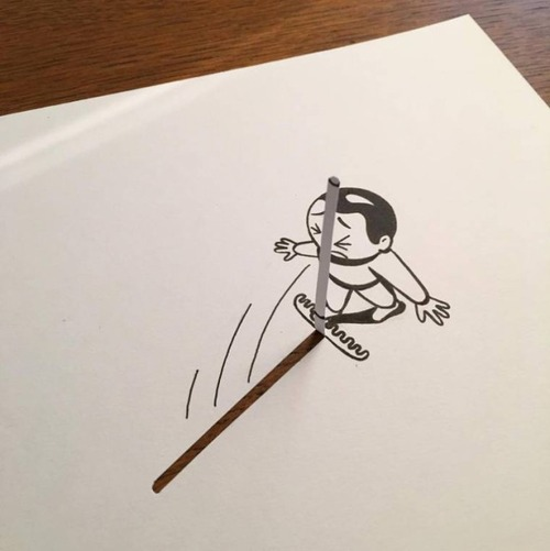 1枚の紙とペンで作った3Dアートの画像(9枚目)