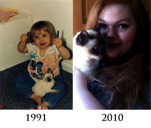 犬や猫の最初に撮った写真と最後に撮った写真の数々の画像(18枚目)