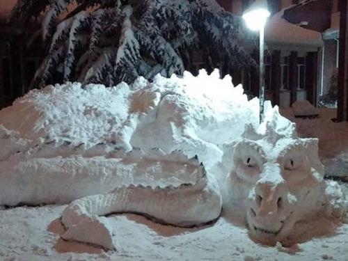 【画像】海外の雪祭りとか色々な雪像がやっぱ海外って感じで面白いwwwの画像(12枚目)