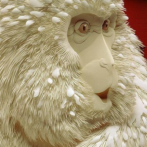 【画像】普通の紙で作る動物のペーパー・カッティング(切り絵)が凄い!!の画像(20枚目)