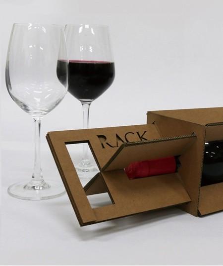 ダンボール製のワインボトルのパッケージ06