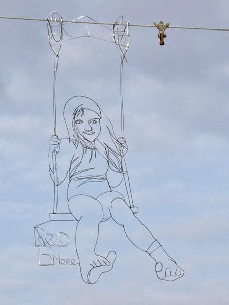 空に絵を描くワイヤーアート13