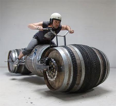ワインの樽の自転車03