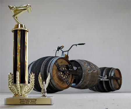 ワインの樽の自転車06