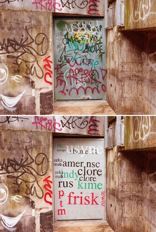 壁の落書きの文字の画像(9枚目)