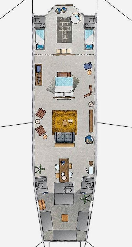 【画像】ジャンボジェットを自宅に改装しているwwwの画像(3枚目)