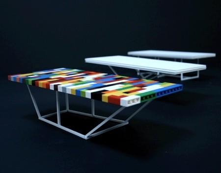 レゴで作った大きなテーブル06