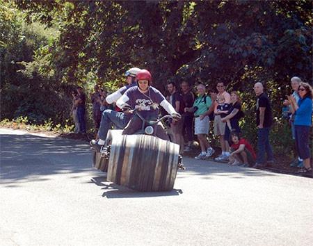 ワインの樽の自転車02