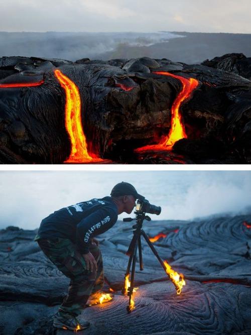 芸術的な写真と撮影風景のギャップの画像(4枚目)