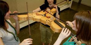3人同時に弾けるバイオリン!これなら喧嘩にならない!!の画像(1枚目)