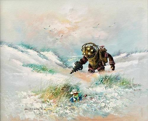 【画像】絵画の世界にSF映画やゲームのキャラが登場したら!の画像(8枚目)