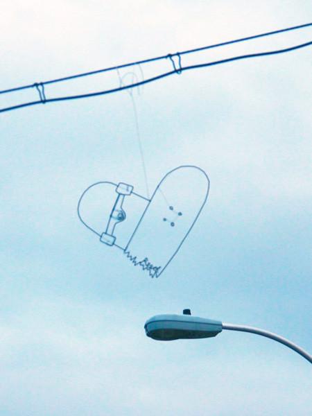 空に絵を描くワイヤーアート14