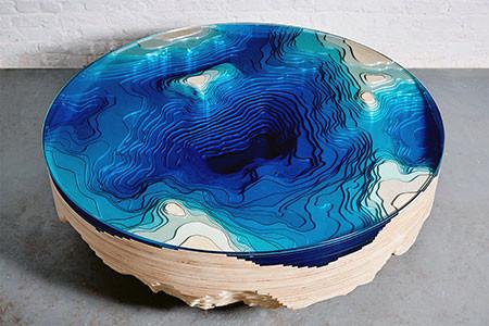 深海の地形がテーブルの画像(2枚目)