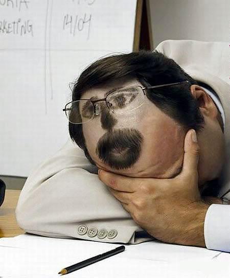 居眠りヘアーの画像(2枚目)