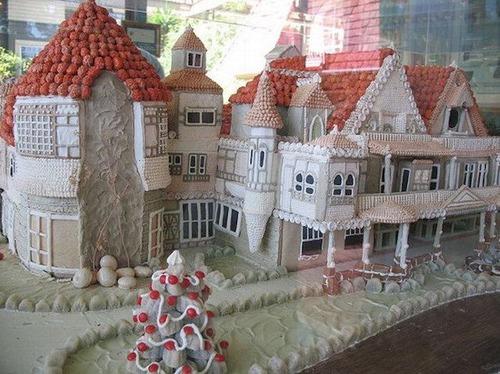 【画像】お菓子でできた家やジオラマが凄い!!の画像(14枚目)