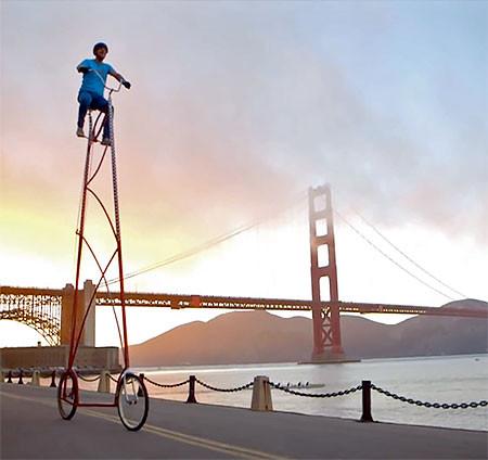高すぎる自転車の画像(9枚目)