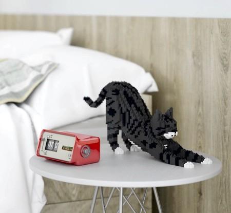レゴで作ったネコの置物04