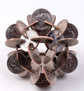 【画像】もったいないけど凄い!コインを使った面白アート!の画像(4枚目)