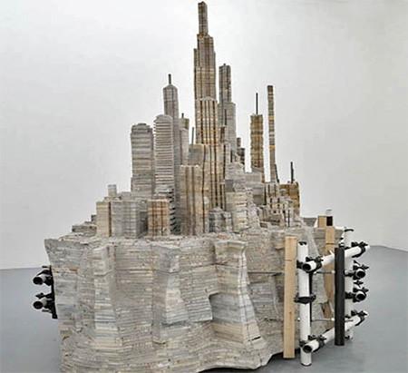 本で作られた大都市のジオラマの画像(6枚目)