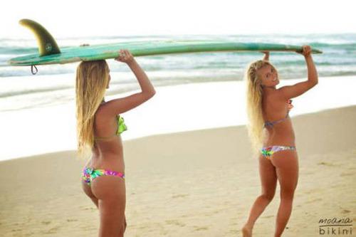 可愛くて魅力的なサーフィンしている女の子の画像の数々!!の画像(17枚目)