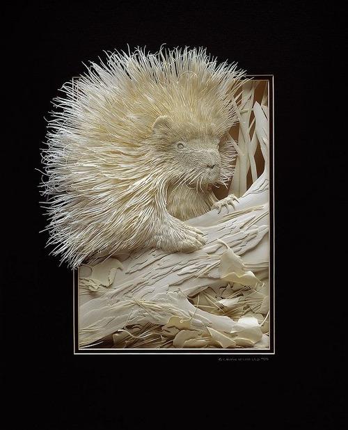 【画像】普通の紙で作る動物のペーパー・カッティング(切り絵)が凄い!!の画像(31枚目)