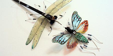今にも動き出しそう!ちょっとリアルな電子部品でできた昆虫!!の画像(1枚目)