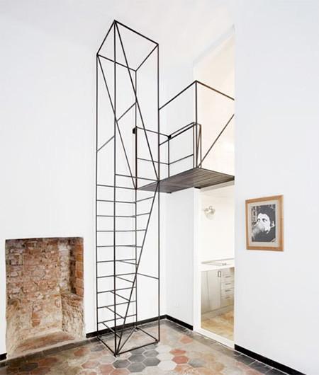 ワイヤフレームのような階段08