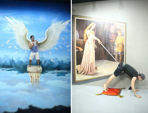 いっしょに撮れば面白い!3Dアートで遊ぶ人たちの画像!の画像(12枚目)